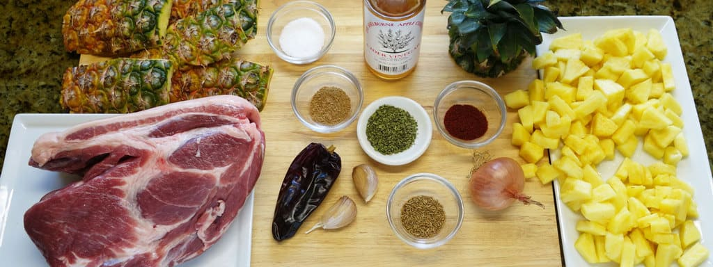 Ingredients for Pork Al Pastore