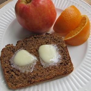 Korinthen-Hafer-Brot schmeckt getoastet fantastisch.