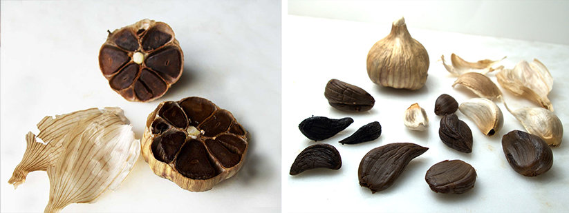 Black garlic whole and cloves